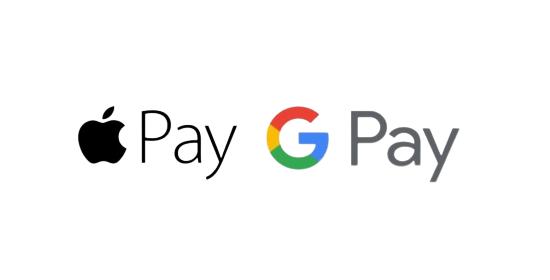 Apply Pay, Google Pay (Stripe)